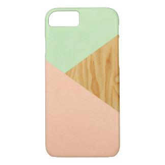 Funda Para iPhone 8/7 Madera y modelo abstracto en colores pastel