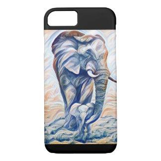 Funda Para iPhone 8/7 Madre del elefante y caja del teléfono del becerro