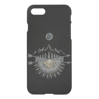 Funda Para iPhone 8/7 Mandala de la cordillera de la luna y del cielo