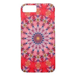 Funda Para iPhone 8/7 Mandala roja y rosada colorida