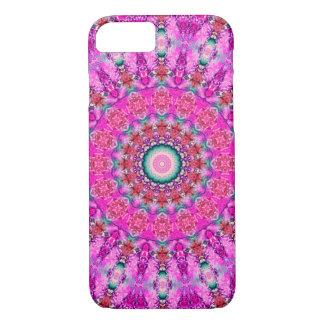 Funda Para iPhone 8/7 Mandala rosada y roja bonita