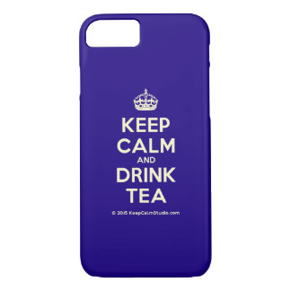 Funda Para iPhone 8/7 Mantenga té tranquilo y de la bebida
