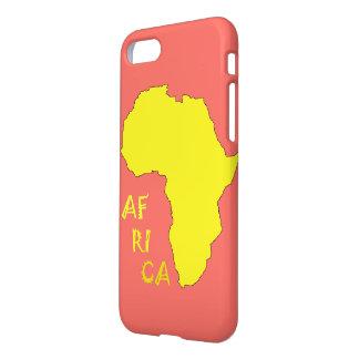 Funda Para iPhone 8/7 Mapa amarillo enrrollado IPhone de África 8/7