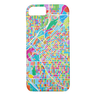 Funda Para iPhone 8/7 Mapa colorido de Denver