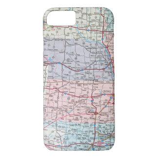 Funda Para iPhone 8/7 mapa de Cercano oeste los E.E.U.U.