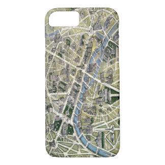 Funda Para iPhone 8/7 Mapa de París durante el período de los Grands