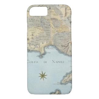 Funda Para iPhone 8/7 Mapa del golfo de Nápoles y de los alrededores