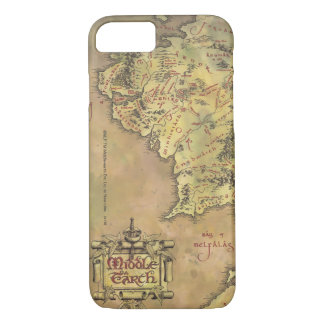 Funda Para iPhone 8/7 Mapa medio de la tierra