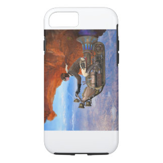 Funda Para iPhone 8/7 Máquina de vuelo de Steampunk