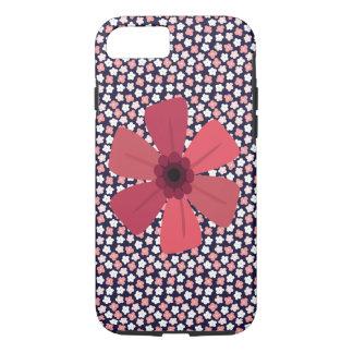 Funda Para iPhone 8/7 Marina de guerra brillante Ditsy floral