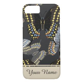 Funda Para iPhone 8/7 Mariposa negra de Swallowtail personalizada