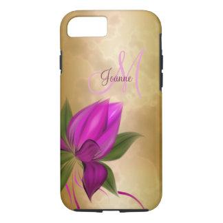 Funda Para iPhone 8/7 Mármol floral subió oro