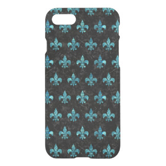 FUNDA PARA iPhone 8/7 MÁRMOL NEGRO ROYAL1 Y AGUA AZULVERDE (R)