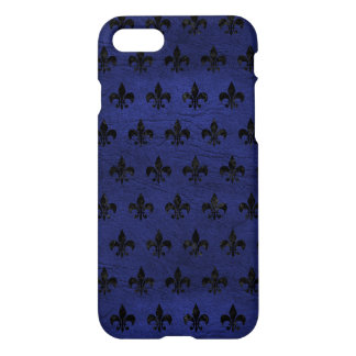 FUNDA PARA iPhone 8/7 MÁRMOL NEGRO ROYAL1 Y CUERO AZUL