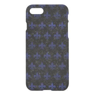 FUNDA PARA iPhone 8/7 MÁRMOL NEGRO ROYAL1 Y CUERO AZUL (R)