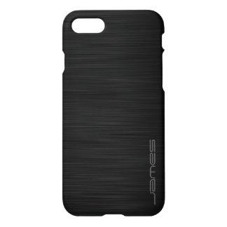 Funda Para iPhone 8/7 metal perforado elegante oscuro personalizado por