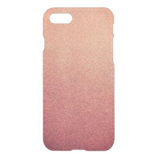 Funda Para iPhone 8/7 Mirada rosada de la arena del brillo de Ombre de