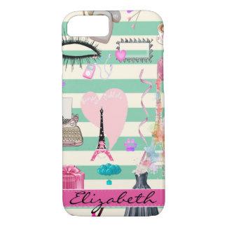 Funda Para iPhone 8/7 Moda adorable, París, modelo de los corazones