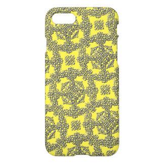 Funda Para iPhone 8/7 Modelo abstracto moderno amarillo de la textura