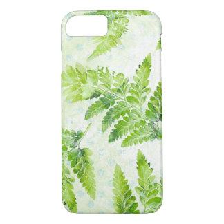 Funda Para iPhone 8/7 Modelo botánico de la acuarela del helecho verde