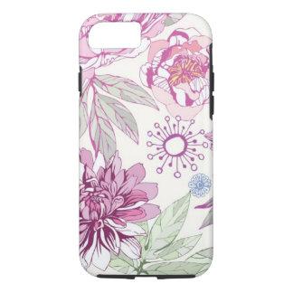 Funda Para iPhone 8/7 Modelo con las flores rosadas
