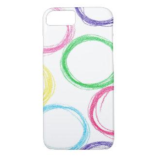 Funda Para iPhone 8/7 Modelo con los círculos coloreados dibujados mano