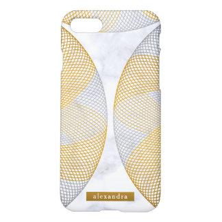 Funda Para iPhone 8/7 Modelo de mármol moderno de los círculos del oro y