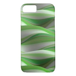 Funda Para iPhone 8/7 modelo de onda sombreado verde y blanco