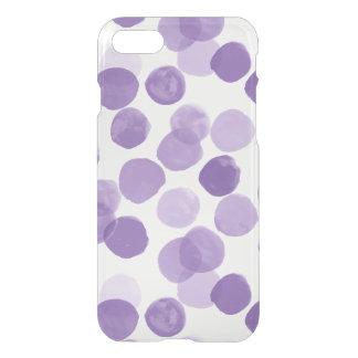 Funda Para iPhone 8/7 Modelo de puntos púrpura grande