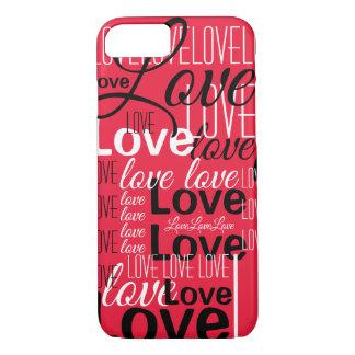 Funda Para iPhone 8/7 Modelo del arte de la palabra del amor