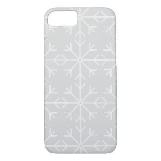 Funda Para iPhone 8/7 Modelo del copo de nieve - gris y blanco