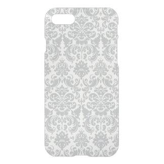 Funda Para iPhone 8/7 Modelo elegante gris y blanco del damasco