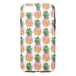 Funda Para iPhone 8/7 Modelo hawaiano tropical alegre de la piña