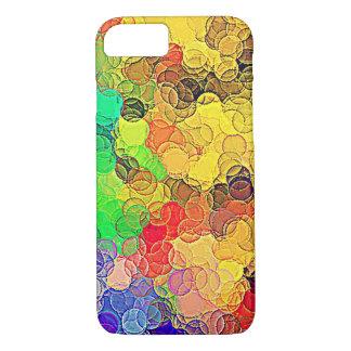 Funda Para iPhone 8/7 Modelo multicolor retro de los círculos