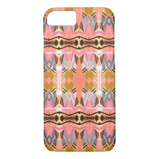 Funda Para iPhone 8/7 Modelo rosado geométrico del estilo colorido del