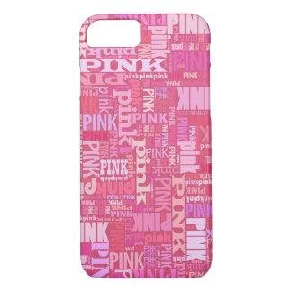 Funda Para iPhone 8/7 Modelo rosado oscuro del texto para los amantes
