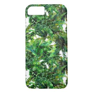 Funda Para iPhone 8/7 Modelo verde de la caída del bosque del helecho de