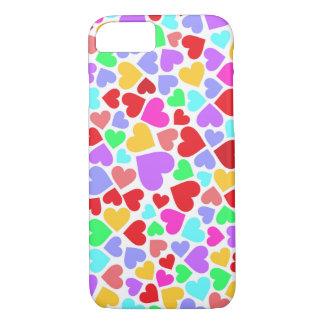 Funda Para iPhone 8/7 Modelos coloridos lindos de los corazones
