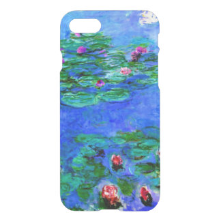 Funda Para iPhone 8/7 Monet - lirios de agua (rojos)