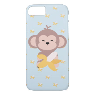 Funda Para iPhone 8/7 Mono lindo de Kawaii con el caso del iPhone 7 del