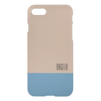 Funda Para iPhone 8/7 Monograma beige/azul en colores pastel