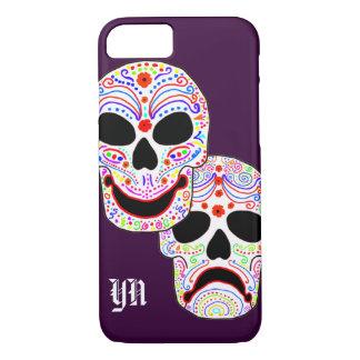 Funda Para iPhone 8/7 Monograma de los cráneos de Halloween DOTD de la