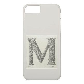 Funda Para iPhone 8/7 Monograma inicial antiguo de la letra M