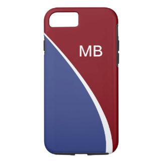 Funda Para iPhone 8/7 Monograma moderno del negocio