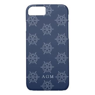 Funda Para iPhone 8/7 Monograma náutico del modelo de la marina de
