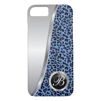 Funda Para iPhone 8/7 Monograma negro y azul marino del estampado