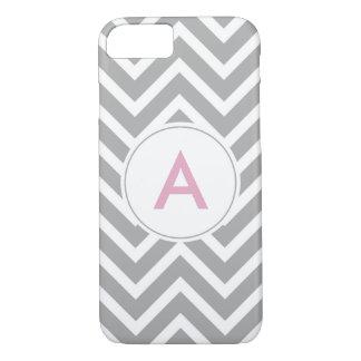 Funda Para iPhone 8/7 Monograma rosado gris escandinavo de moda de