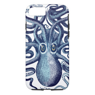 Funda Para iPhone 8/7 Monstruo de mar azul del pulpo