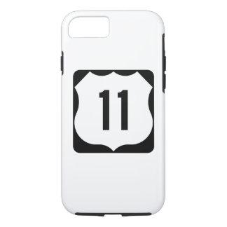 Funda Para iPhone 8/7 Muestra de la ruta 11 de los E.E.U.U.