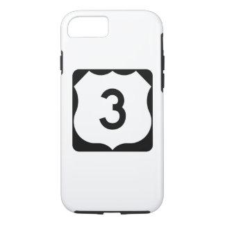 Funda Para iPhone 8/7 Muestra de la ruta 3 de los E.E.U.U.